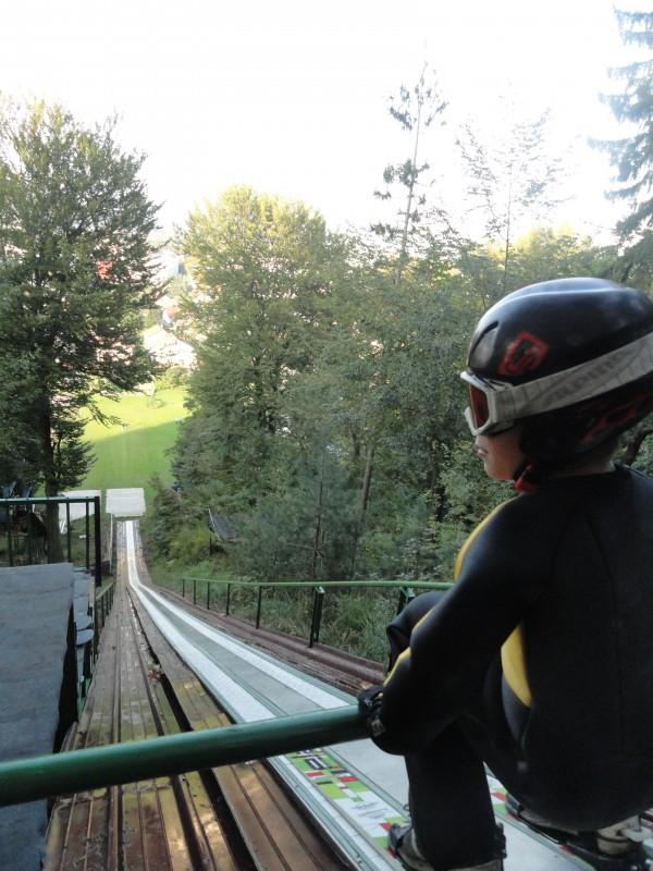 Na vrhu zaletišča skakalnice K=35m